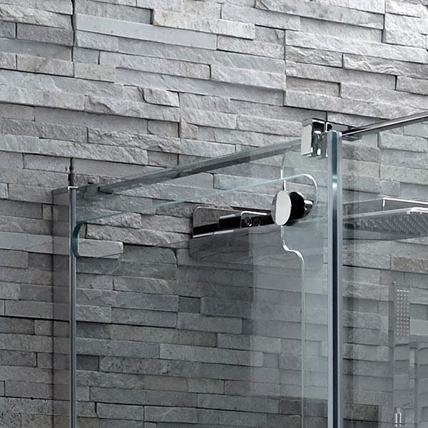 Bracket support in Glide Frameless shower door