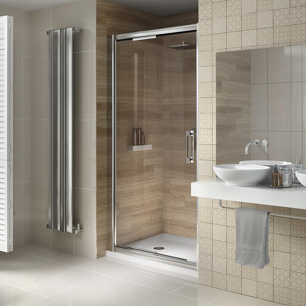 .dSIX Infolding Shower Door from .dilusso Showering