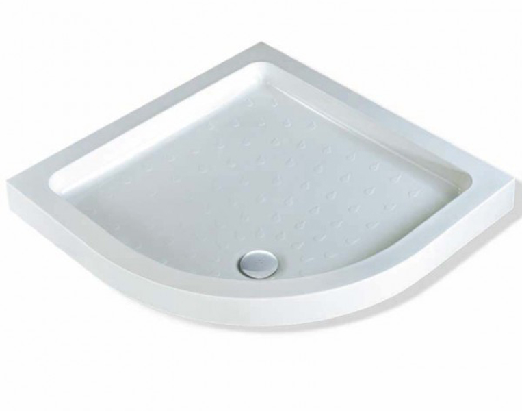 Deep High Walled Shower Tray With Non Slip Tread