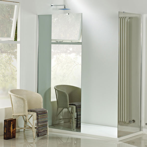 Phoenix Mirrored Glass Shower Screen