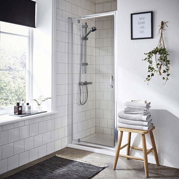 Ella pivot shower door from just 660mm wide