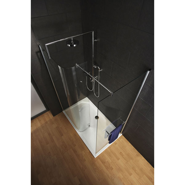 The HSK Free Curve one of the finest walk in shower enclosures around