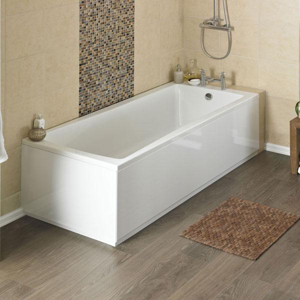 Linton square acrylic bath