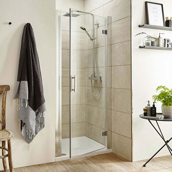 Pacific hinged shower door from Ultra