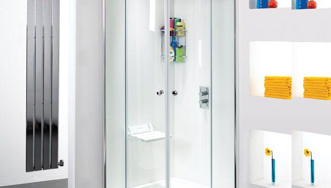 Phoenix Motion frameless quadrant shower enclosure