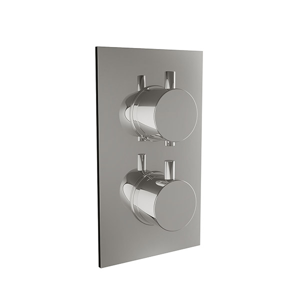 Scudo Twin Concealed Shower Valve in chrome
