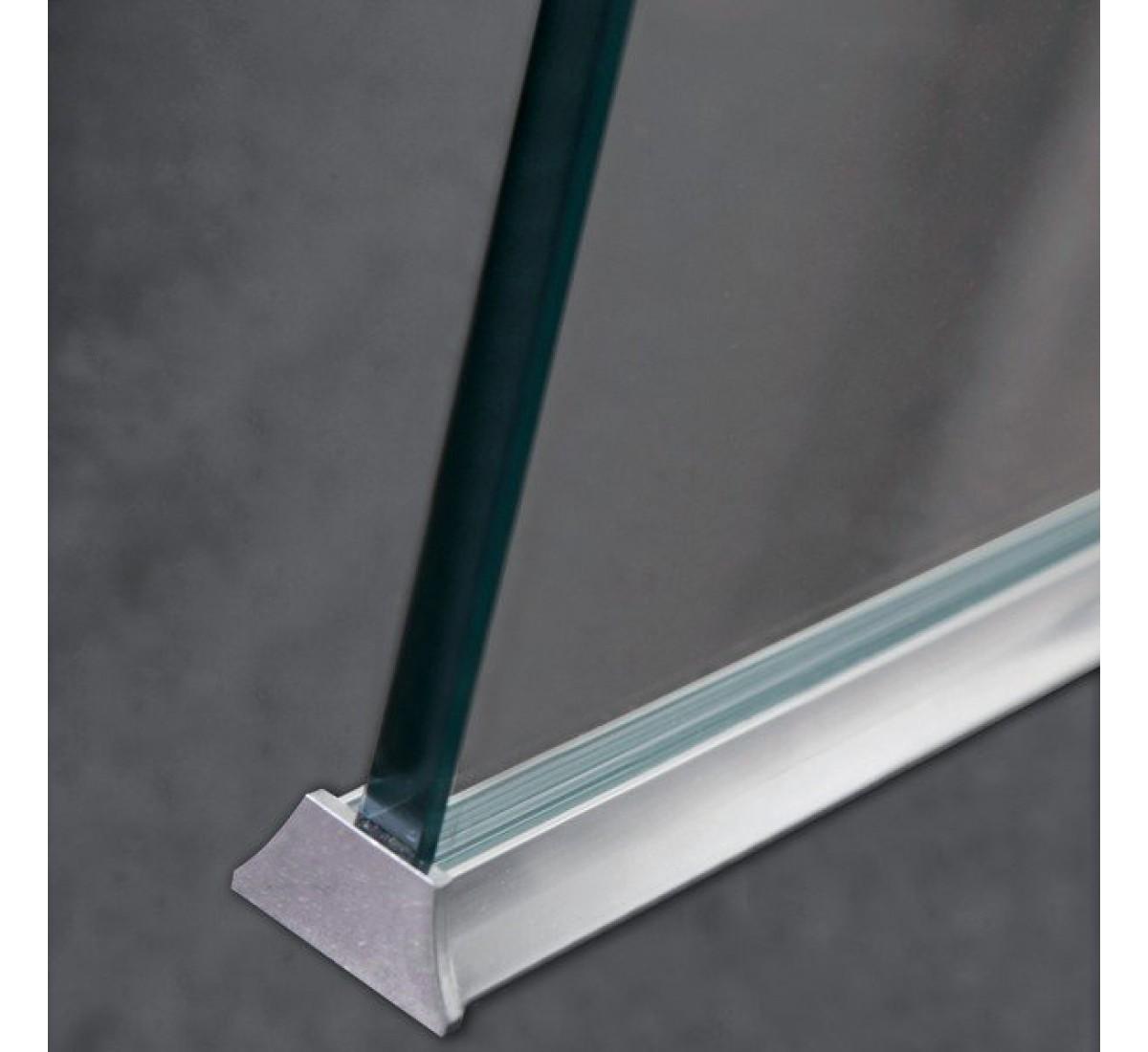 Wet room shower screen floor channel aluminium sealing strip