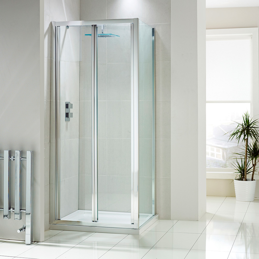Aquaglass 4mm Bifold Shower Door With Self Cleaning Glass