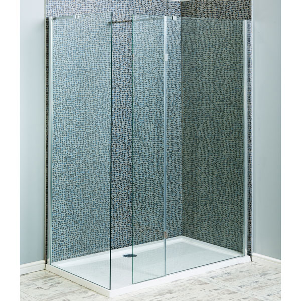 Cheap Aquatech Marna 8mm Wet Room Screens With Hinged Return