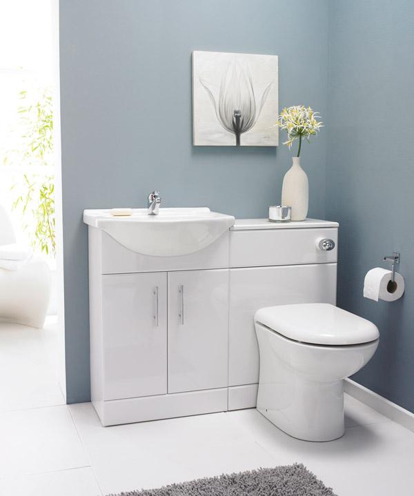 . Saturn Back to Wall Toilet   Vanity Unit Suite
