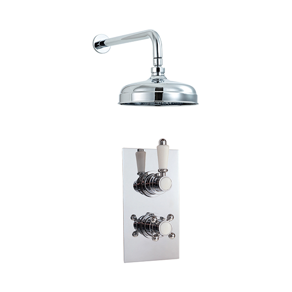 Phoenix Traditional Twin Concealed Shower Valve & Traditional Shower ...