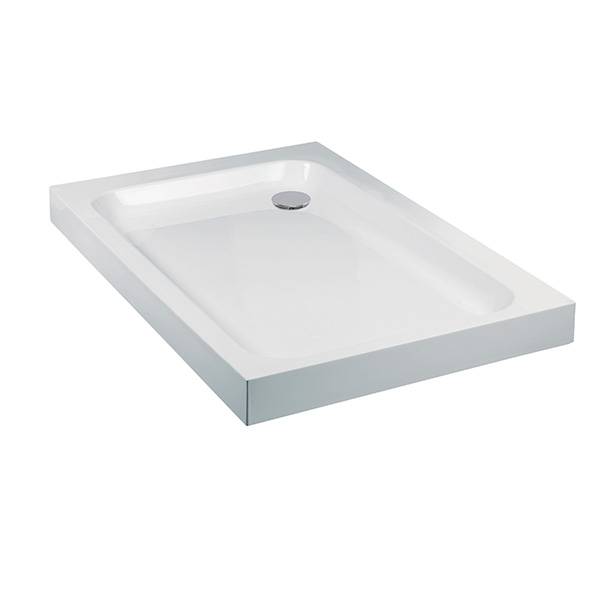Aquaglass Rectangle Classic Extra Deep Shower Tray Stone Resin