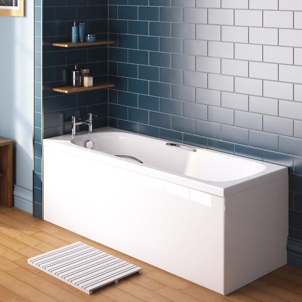 Marshall Bath With Chrome Bath Handles 4 Sizes