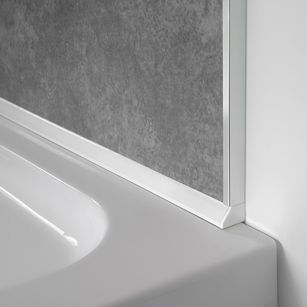 showerwall sureseal shower panel 4 point sealing trim. Black Bedroom Furniture Sets. Home Design Ideas