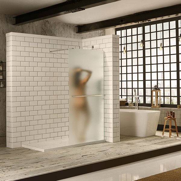 Aquaglass Walk In 10mm Frosted Shower Screen Panels