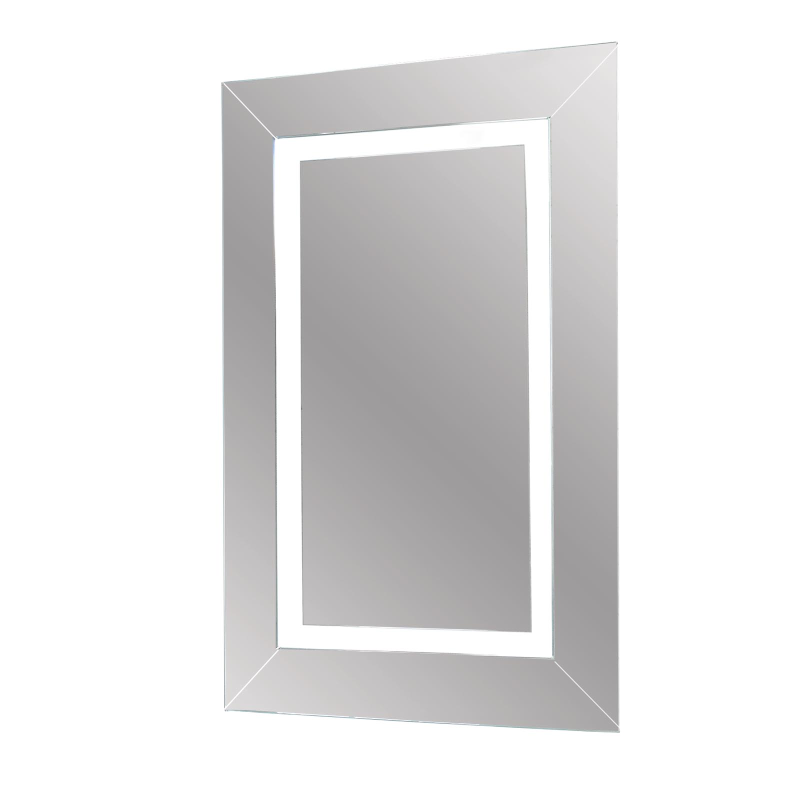 Heated Bathroom Mirrors With Lights: Phoenix Lunar Heated Bathroom Mirror With Lights Built In