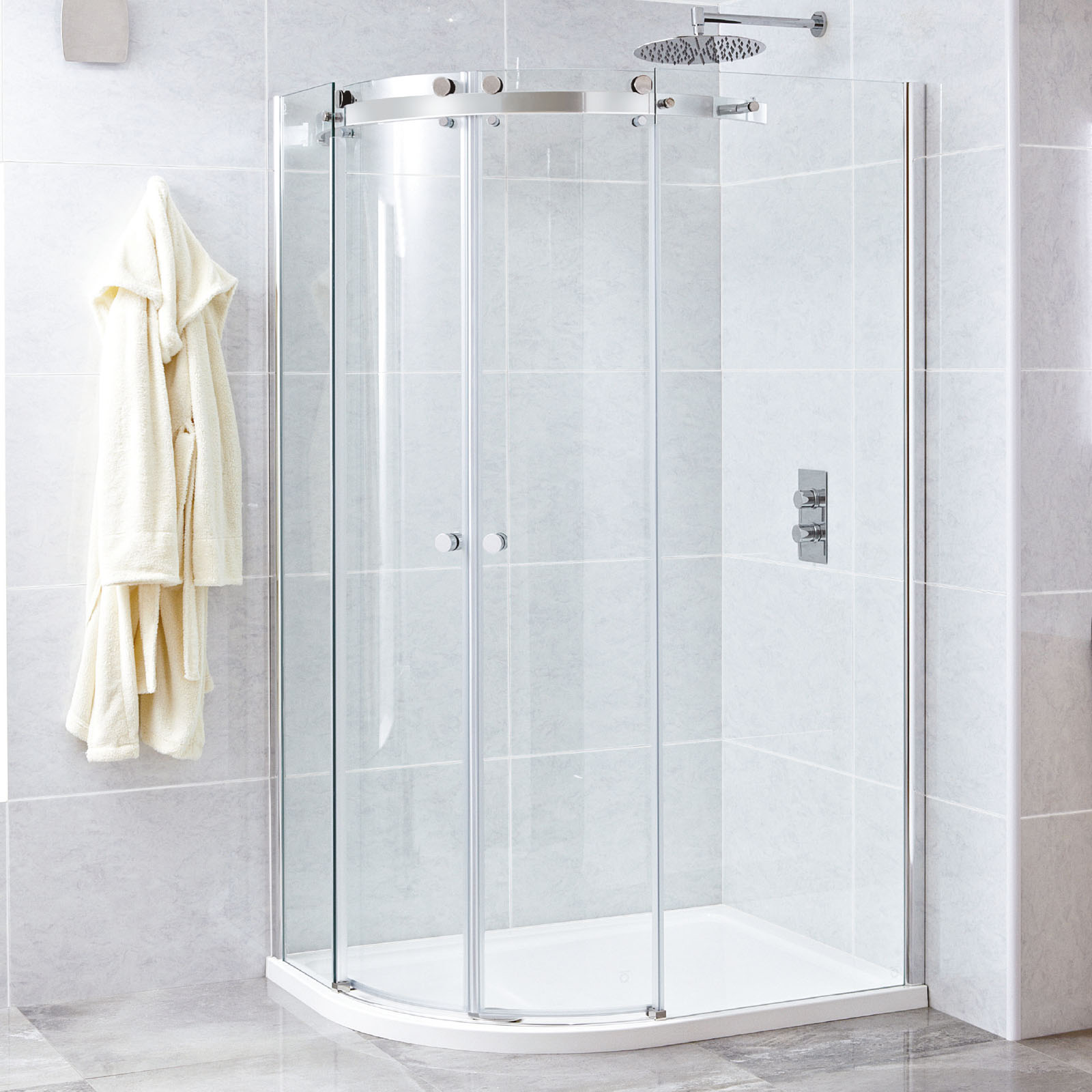 Phoenix Motion 8mm Frameless Quadrant Shower Enclosures