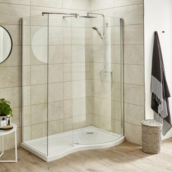 Premier Pacific 6mm Glass Curved Walk In Shower Enclosure