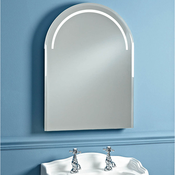 Phoenix Balmoral Arched Bathroom Mirror With Demister