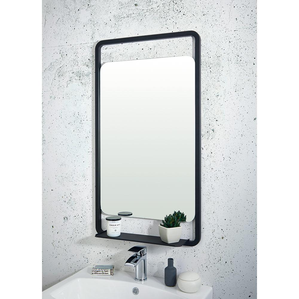 Bathroom Mirror Black Frame Image Of Bathroom And Closet