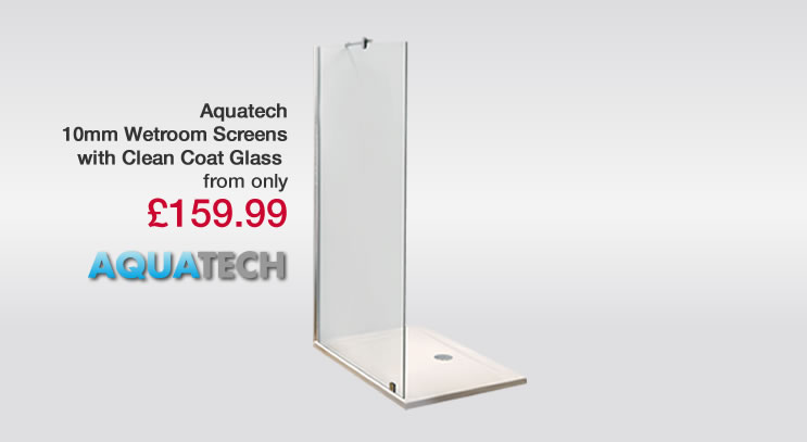 10mm Aquatech Walk In Shower Screen