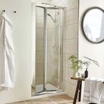 Pacific Bi Fold shower door in a recess/alcove