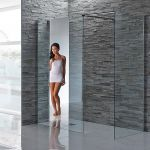 Aquaglass Mirrored Shower Screen 8mm Glass