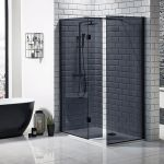 Mono black walk in shower screen