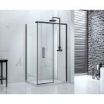 Aquaglass Onyx black frame sliding shower door