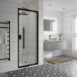 Jaquar Black Profile Hinged Shower Door