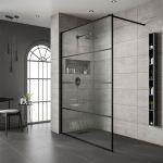 Jaquar Crittal Black Frame Shower Screen