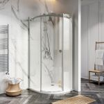 Scudo/Shield S8 Frameless 900mm Quadrant Shower