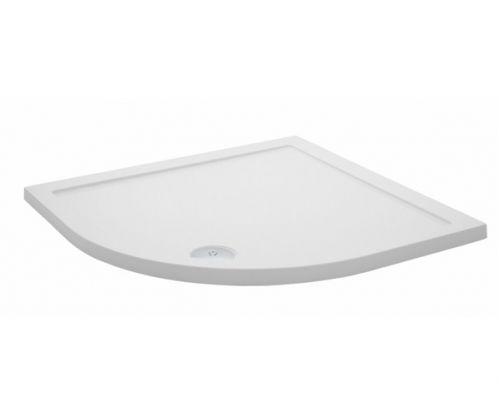 Stone resin quadrant shower tray