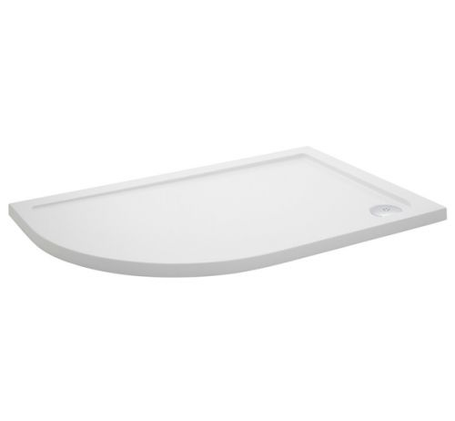 Pearlstone Offset Quadrant Shower Tray - LH Shown