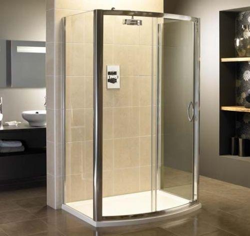 Identiti2 6mm Bow Single Sliding Shower Door 1200mm