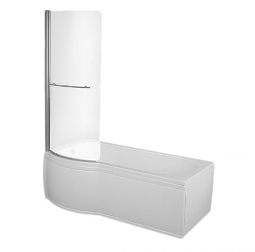 Trojan Concert P Shaped Shower Bath - LH model shown