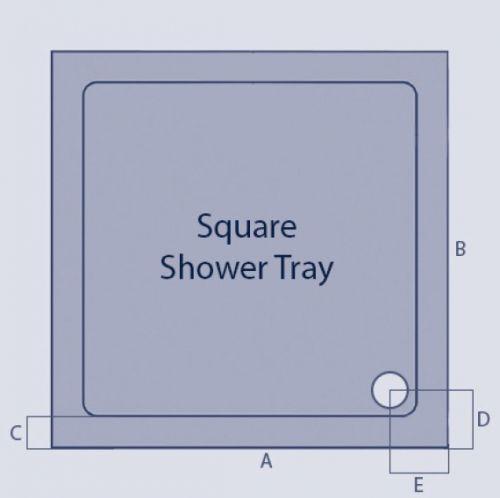 Kartell KVIT square technical drawing