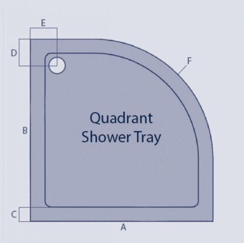 Kvit Quadrant Shower Tray Technical