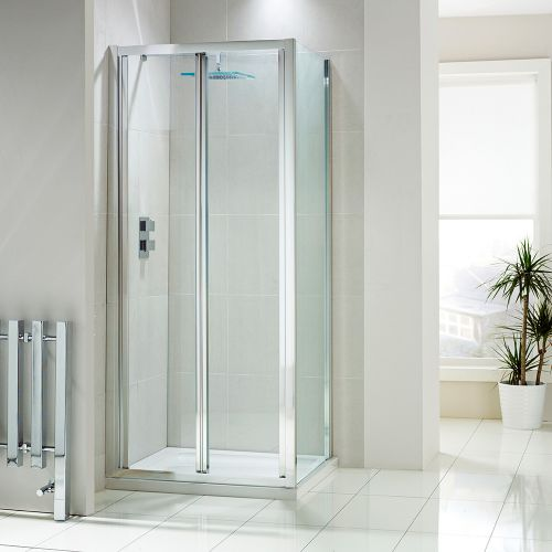 Aquaglass+ 4mm Bifold Shower Door With Aquashield Protection