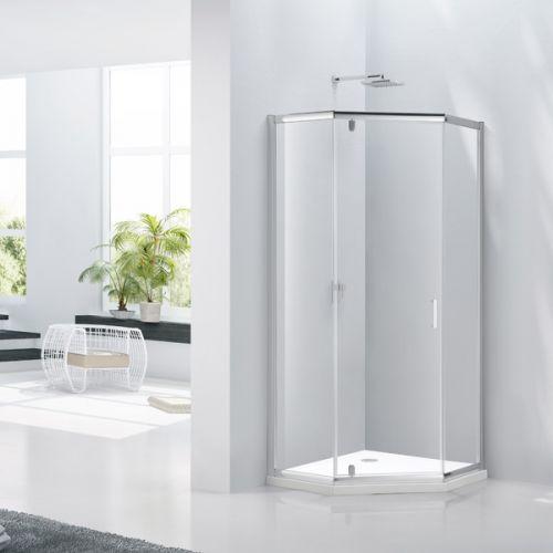 Aquaglass Purity Pentagonal 6mm Shower Enclosure