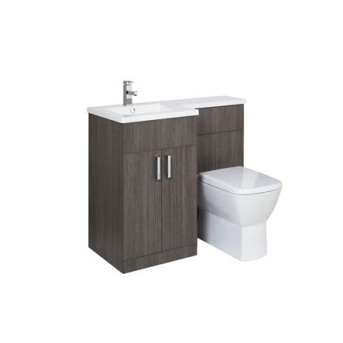 Aquatrend Petite Avola Grey Furniture Pack with Summit BTW WC - LH Shown