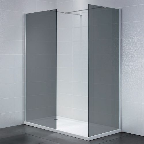 Identiti2 8mm Smoked Glass Walk In Shower Enclosure