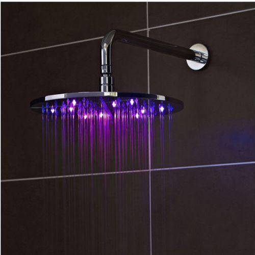 Illuminated LED Shower Head Purple Light
