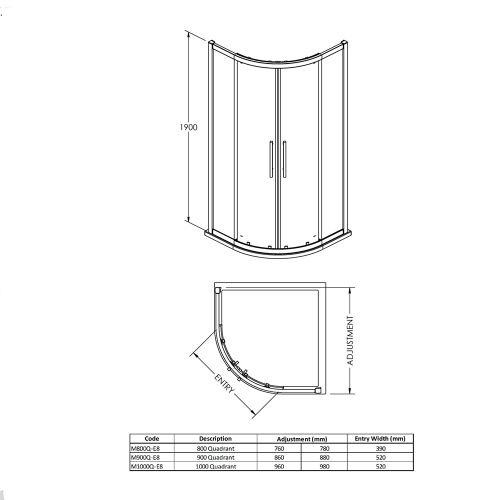Technical Drawing For Apex Quadrant Enclosure