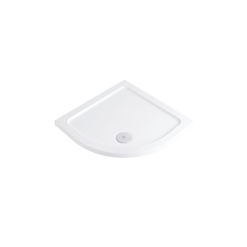Phoenix Low Profile Stone Resin Quadrant Shower Tray with Free 90mm Waste