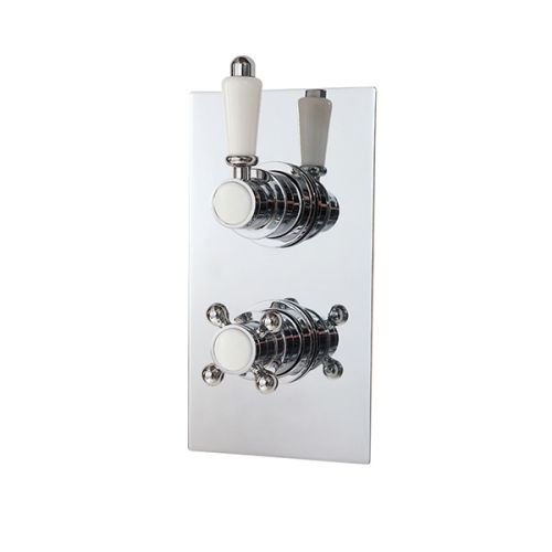 Phoenix Twin Traditional Concealed Shower Valve With Single Outlet