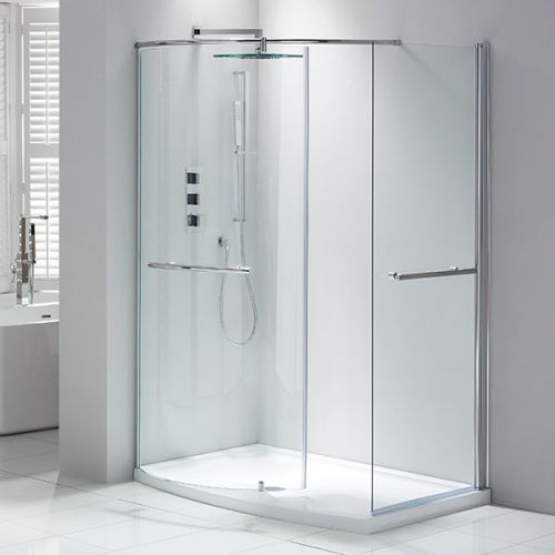 Aquaglass Purity Closing Walk In Shower Enclosure