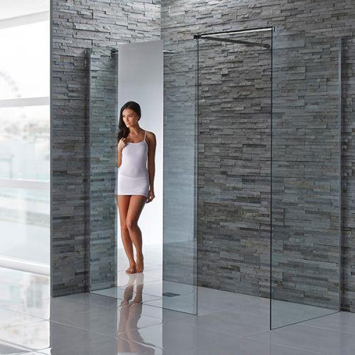 Aquaglass+ Mirrored Shower Screen 8mm Glass