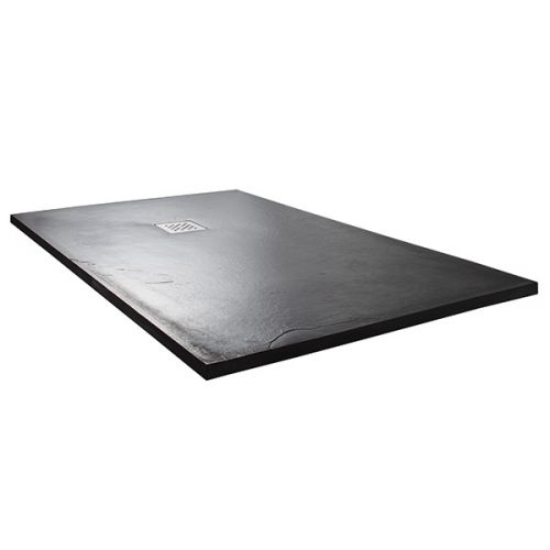 Grey slate rectangular shower tray