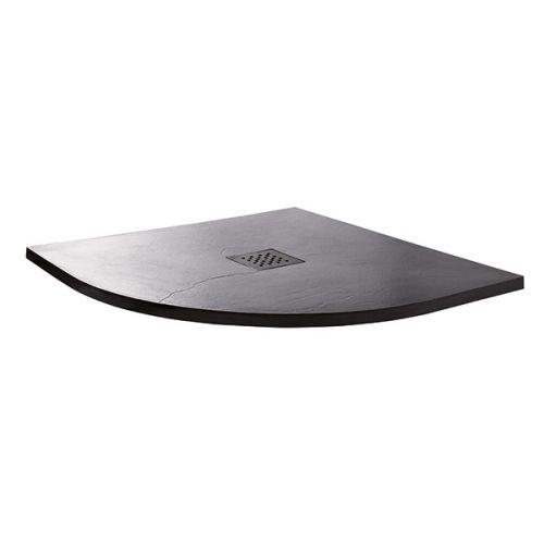 Grey slate quadrant shower tray